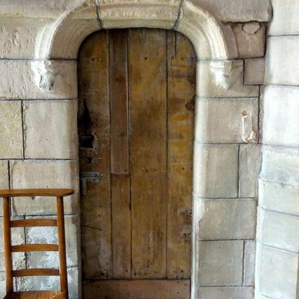 Bas-côté Sud, porte de la tourelle d'escalier du clôcher